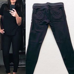 Siwy Hannah Coated Front black jeans sz 26
